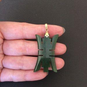 Vintage nephrite jade pendant.